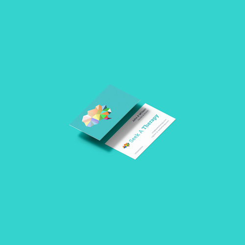 Seek A Therapy Business Card